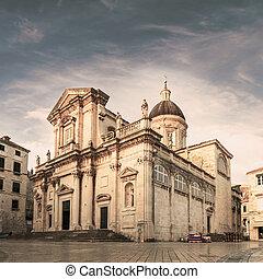 mary., dubrovnik., -, vergine, assunzione, cattedrale, croatia.