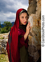Mary Magdalene at Jesus' grave