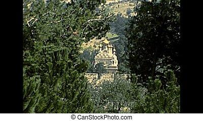 Mary Magdalene Church Jerusalem - Close up of the Church of...