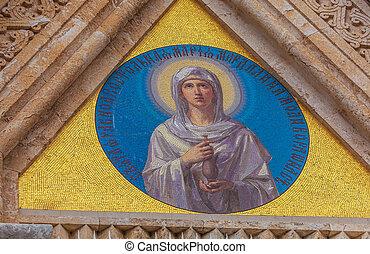 Mary Magdalene Convent on the Mount of Olives, Jerusalem, israel