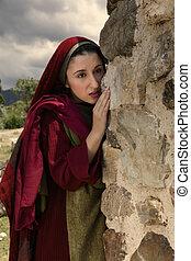 Mary Magdalene crying at Jesus empty tomb - Mary Magdalene...