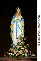 Mary mother of Jesus - Figure of mother Mary found in a...