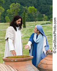 Mary saying to Jesus there is no more wine