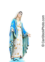 mary vergine, statua, in, chiesa cattolica