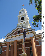 maryborough cityhall - city hall and clock tower, a...