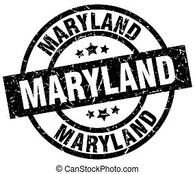 Maryland black round grunge stamp