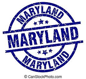 Maryland blue round grunge stamp