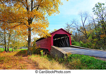 Maryland Covered bridge in Autumn