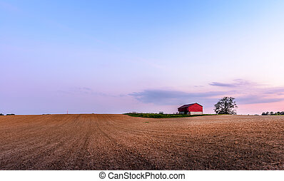 Maryland Farm with red Barn