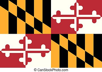 Maryland flag. Vector illustration. United States of America. Baltimore.