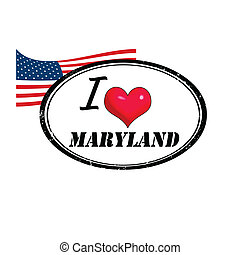 maryland, francobollo
