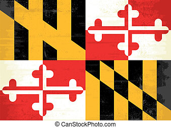 Maryland grunge flag