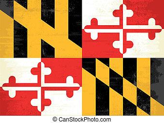Maryland grunge flag - A grunge flag of Maryland for you