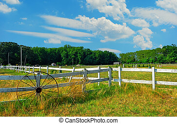 Maryland Horse Stable - Horse stable in Maryland on a summer...