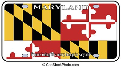 Maryland License Plate Flag - Maryland state license plate...