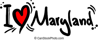 Creative design of maryland love