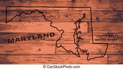 Maryland Map Brand