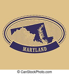 Maryland map silhouette