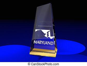 Maryland MD State Award Best Top Prize 3d Illustration