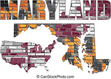 Maryland on a brick wall