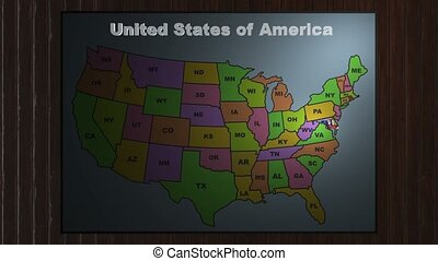 Maryland pull out from USA states abbreviations map - State...