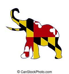 Maryland Republican Elephant Flag
