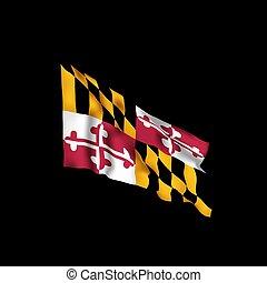 Maryland state flag. Vector illustration of Maryland flag, USA