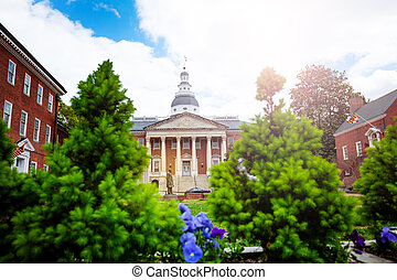 Maryland State House capitol building in Annapolis
