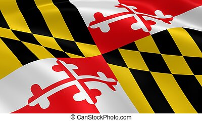 marylander, fahne, wind