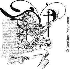 marynarka, heraldyczny, tattoo7, lew, herb