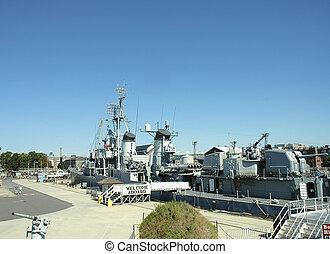 marynarka wojenna, statek, uss, cassin, młody