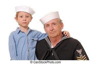 marynarz, 7, syn