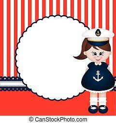 marynarz, dziewczyna, tło
