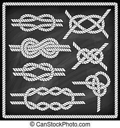 marynarz, węzeł, set.