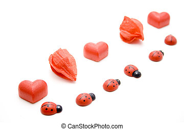 Marzipan heart with beetle