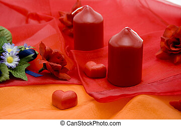 Marzipan heart with candle