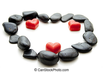 Marzipan heart with stones