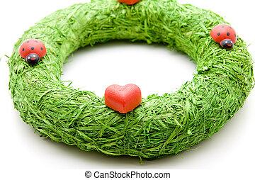 Marzipan heart with wreath