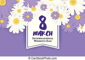 marzo, mujeres, plano de fondo, 8, internacional, día