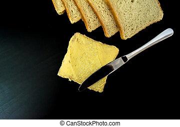 masło, piękny, szczelnie-do góry, brudzi, machać, ciemne...