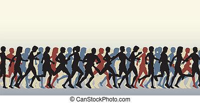 masa, biegacze