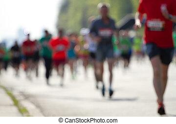 masa, corredores maratón, confuso