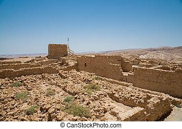 masada, 看法, 從, the, 高度, 上, 沙漠