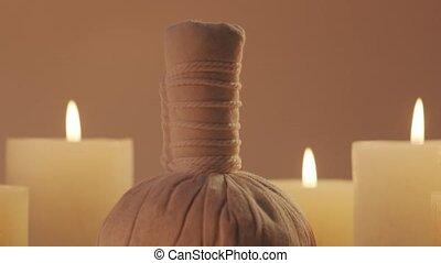 masage, concept., aromathérapie, traitement, composition., ...