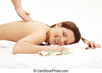 masage, heureux