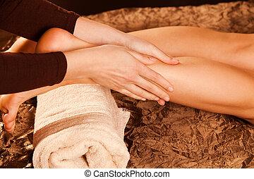 masage, jambe