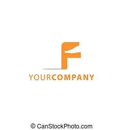 masage, logo, lettre f, pieds