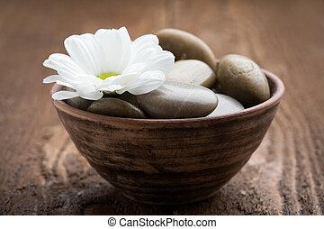 masage, pierres