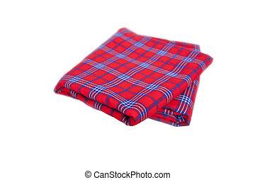 masai, freigestellt, afrikanisch, weiß rot, teppich