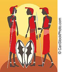 masai, gruppe